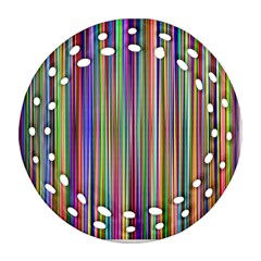 Striped Stripes Abstract Geometric Ornament (round Filigree) by Amaryn4rt