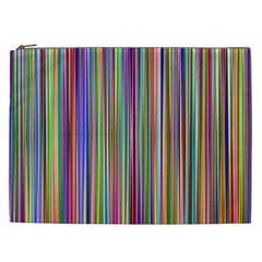 Striped Stripes Abstract Geometric Cosmetic Bag (xxl)  by Amaryn4rt