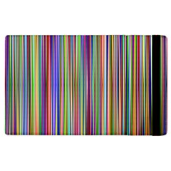 Striped Stripes Abstract Geometric Apple Ipad 2 Flip Case by Amaryn4rt