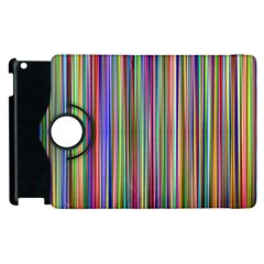 Striped Stripes Abstract Geometric Apple Ipad 3/4 Flip 360 Case by Amaryn4rt