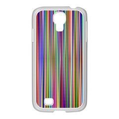Striped Stripes Abstract Geometric Samsung Galaxy S4 I9500/ I9505 Case (white) by Amaryn4rt