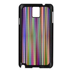 Striped Stripes Abstract Geometric Samsung Galaxy Note 3 N9005 Case (black)