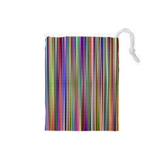 Striped Stripes Abstract Geometric Drawstring Pouches (small)