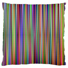 Striped Stripes Abstract Geometric Large Flano Cushion Case (one Side) by Amaryn4rt