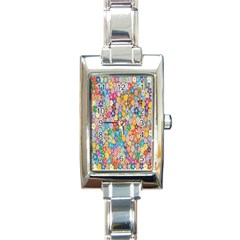 Sakura Cherry Blossom Floral Rectangle Italian Charm Watch by Amaryn4rt
