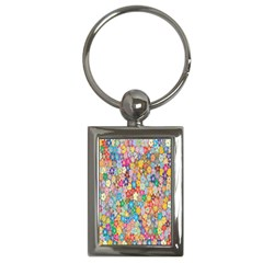 Sakura Cherry Blossom Floral Key Chains (rectangle)  by Amaryn4rt