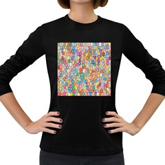 Sakura Cherry Blossom Floral Women s Long Sleeve Dark T Shirts by Amaryn4rt
