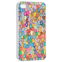 Sakura Cherry Blossom Floral Apple Iphone 4/4s Seamless Case (white) by Amaryn4rt