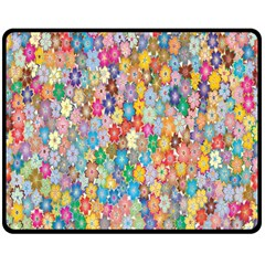 Sakura Cherry Blossom Floral Double Sided Fleece Blanket (medium)