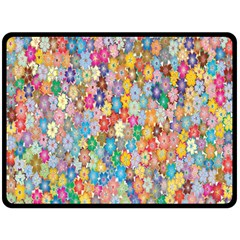 Sakura Cherry Blossom Floral Double Sided Fleece Blanket (large)  by Amaryn4rt