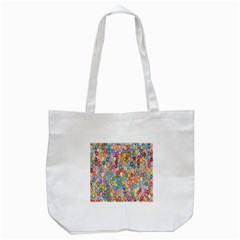Sakura Cherry Blossom Floral Tote Bag (white) by Amaryn4rt