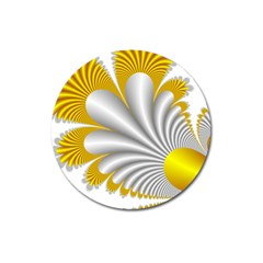 Fractal Gold Palm Tree  Magnet 3  (round) by Amaryn4rt