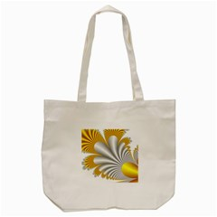Fractal Gold Palm Tree  Tote Bag (cream)