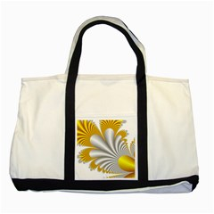 Fractal Gold Palm Tree  Two Tone Tote Bag