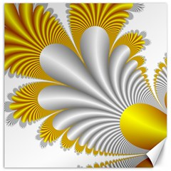 Fractal Gold Palm Tree  Canvas 12  X 12