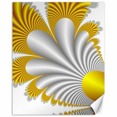 Fractal Gold Palm Tree  Canvas 16  X 20   by Amaryn4rt