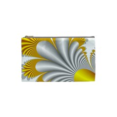Fractal Gold Palm Tree  Cosmetic Bag (small)