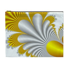 Fractal Gold Palm Tree  Cosmetic Bag (xl)