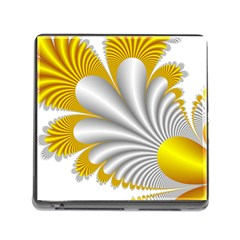 Fractal Gold Palm Tree  Memory Card Reader (square) by Amaryn4rt