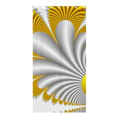 Fractal Gold Palm Tree  Shower Curtain 36  X 72  (stall)  by Amaryn4rt