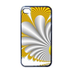 Fractal Gold Palm Tree  Apple Iphone 4 Case (black)