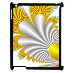 Fractal Gold Palm Tree  Apple Ipad 2 Case (black) by Amaryn4rt