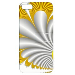 Fractal Gold Palm Tree  Apple Iphone 5 Hardshell Case With Stand by Amaryn4rt