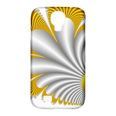 Fractal Gold Palm Tree  Samsung Galaxy S4 Classic Hardshell Case (pc+silicone) by Amaryn4rt