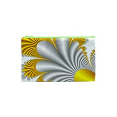 Fractal Gold Palm Tree  Cosmetic Bag (xs)