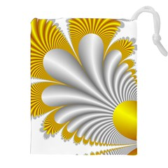 Fractal Gold Palm Tree  Drawstring Pouches (xxl)
