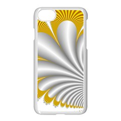 Fractal Gold Palm Tree  Apple Iphone 7 Seamless Case (white)