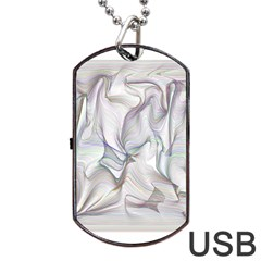 Abstract Background Chromatic Dog Tag Usb Flash (one Side) by Amaryn4rt