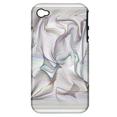 Abstract Background Chromatic Apple Iphone 4/4s Hardshell Case (pc+silicone)