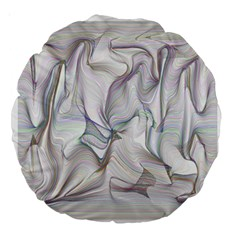 Abstract Background Chromatic Large 18  Premium Round Cushions