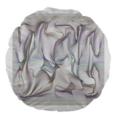 Abstract Background Chromatic Large 18  Premium Flano Round Cushions