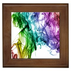 Colour Smoke Rainbow Color Design Framed Tiles by Amaryn4rt