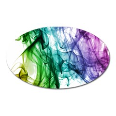 Colour Smoke Rainbow Color Design Oval Magnet by Amaryn4rt