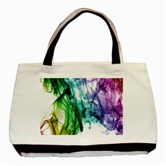 Colour Smoke Rainbow Color Design Basic Tote Bag by Amaryn4rt