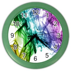 Colour Smoke Rainbow Color Design Color Wall Clocks by Amaryn4rt