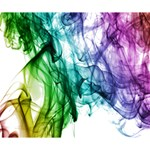 Colour Smoke Rainbow Color Design Deluxe Canvas 14  x 11  14  x 11  x 1.5  Stretched Canvas
