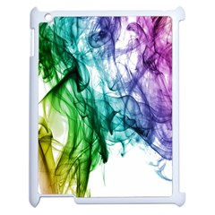 Colour Smoke Rainbow Color Design Apple Ipad 2 Case (white) by Amaryn4rt