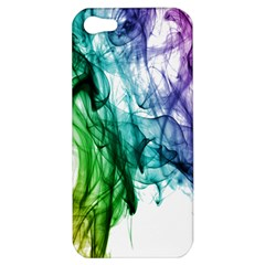 Colour Smoke Rainbow Color Design Apple Iphone 5 Hardshell Case by Amaryn4rt