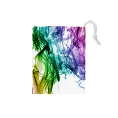 Colour Smoke Rainbow Color Design Drawstring Pouches (small)  by Amaryn4rt