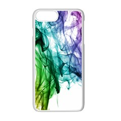 Colour Smoke Rainbow Color Design Apple Iphone 7 Plus White Seamless Case by Amaryn4rt