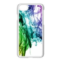 Colour Smoke Rainbow Color Design Apple Iphone 7 Seamless Case (white) by Amaryn4rt