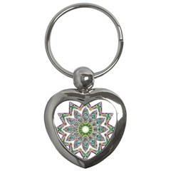 Decorative Ornamental Design Key Chains (heart)  by Amaryn4rt