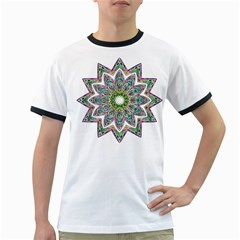 Decorative Ornamental Design Ringer T-shirts by Amaryn4rt
