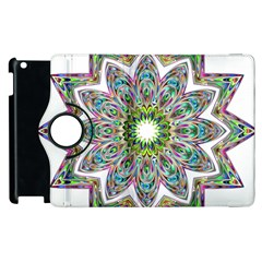 Decorative Ornamental Design Apple Ipad 3/4 Flip 360 Case by Amaryn4rt