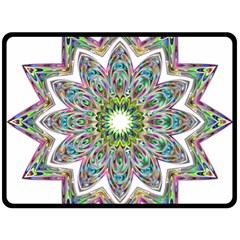Decorative Ornamental Design Double Sided Fleece Blanket (large)  by Amaryn4rt