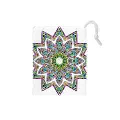 Decorative Ornamental Design Drawstring Pouches (small)  by Amaryn4rt